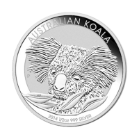 Moneda de Plata Koala Australiano 2014 de 1/2 oz