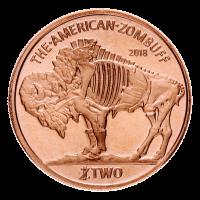 1 oz Zombucks Zombuff Copper Round