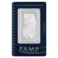 1 oz PAMP Suisse Lady Fortuna Silver Wafer Bar
