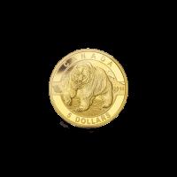 Moneda de Oro Oso Pardo – de 1/10 oz serie O Canadá 2014