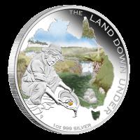 Moneda de Plata Fiebre del Oro a Color de la serie de las Tierras Australes 2014 de 1oz