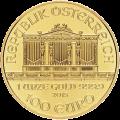 Moneda de Oro Filarmónica Austríaca Año Aleatorio de 1 oz
