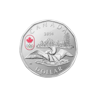 1/4 oz 2014 Canadian Lucky Loonie Silver Coin