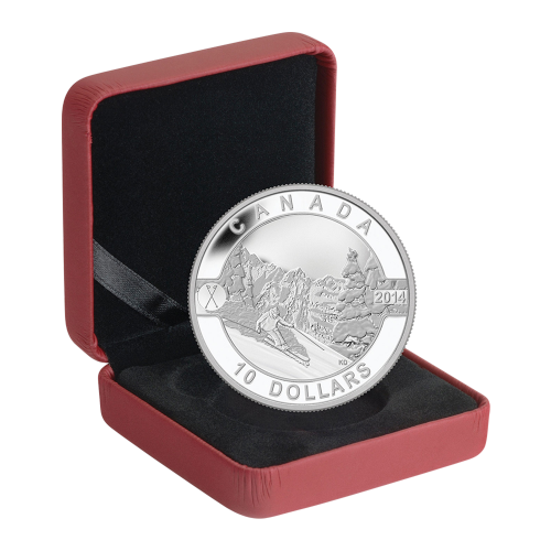 1/2 oz 2014 O Canada Series - Skiing Canada's Slopes Silver Coin