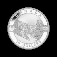 Serie O Canadá 2014 de 1/2 oz – Moneda de plata de las pistas de esquí de Canadá.
