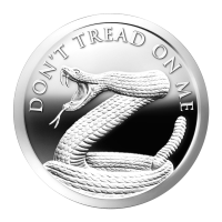 1 oz 2014 Don't Tread on Me Silver Proof-like Round