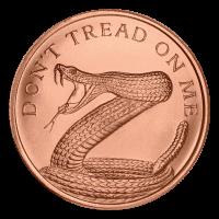 1 oz 2014 Don't Tread on Me Copper Round