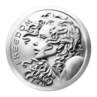 1 oz 2014 Freedom Girl Silver Round