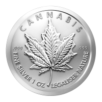 1 oz 2014 Cannabis Silver Round