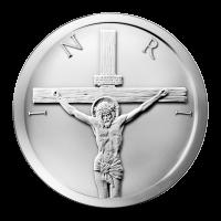 Ronda de Plata Crucifixión 2014 de 1 oz