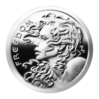 1 oz 2014 Freedom Girl Silver Proof-like Round