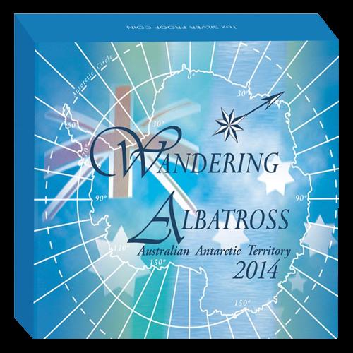 1 oz 2014 Australian Antarctic Territory Series - Wandering Albatross Silver Proof Coin