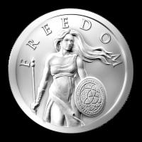 1 oz 2014 Standing Freedom Silver Round