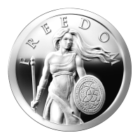1 oz 2014 Standing Freedom Silver Proof-like Round