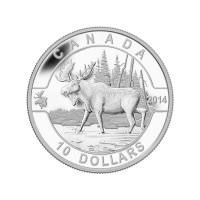 1/2 oz 2014 O Canada Series - Moose Silver Coin