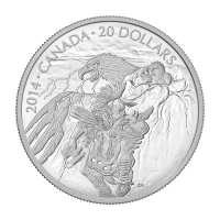 1 oz 2014 Nanaboozhoo and the Thunderbird's Nest Silver Coin