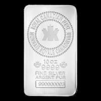 Nueva Barra de Plata de 10 oz de la Casa de la Real Moneda de Canadá