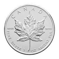 1 oz 2010 Canadian Maple Leaf Silver Coin