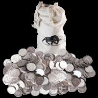 Bolsa de Monedas 90% de Pura Plata de circulación en Estados Unidos de 100$ de Valor nominal