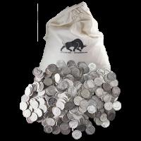 Bolsa de Monedas 90% de Pura Plata de circulación en Estados Unidos de 250$ de Valor nominal