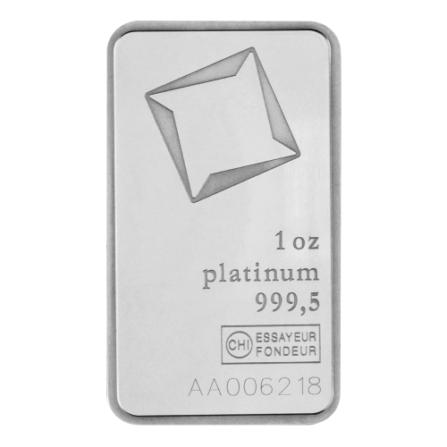 1 oz Valcambi Platinum Wafer Bar