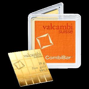 20 gram (20 x 1 g) Valcambi Gold CombiBar
