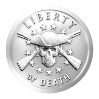 1 oz 2014 Liberty or Death Zilveren Plak