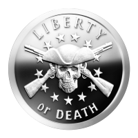 1 oz 2014 Liberty or Death Silver Proof-like Round