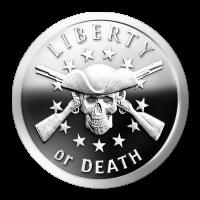 Ronda de Plata como Proof Libertad o Muerte 2014 de 1 oz