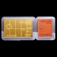 1 oz (10 x 1/10 oz) Valcambi Gold CombiBar