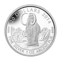 1 oz 2014 Woolly Mammoth Silver Coin
