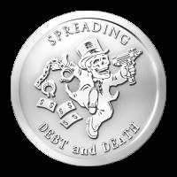 Difusión de Deuda y de Muerte | Ronda de Plata Serie Banquero 2014 de 1 oz