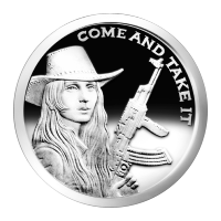 1 oz 2014 Come and Take It Silver Proof-like Round