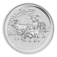 Moneda de Plata Año de la Cabra Lunar 2015 de 1 oz