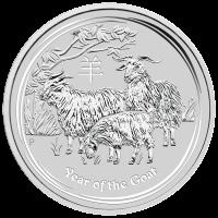 10 oz Silbermünze Mondserie Jahr der Ziege 2015