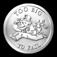 Moneda de plata Serie Banquero - Demasiado Grande Para Fallar 2014 de 1 oz