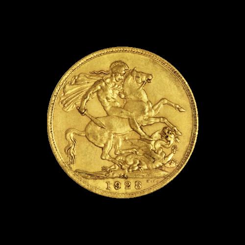Ein Abbild des Königs oder der Königin, aus der Zeit in der die Münze geprägt wurde, zusammen mit der dazugehörigen Beschreibung.