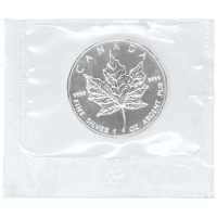 1 oz 1999 Canadian Maple Leaf Flex Sealed Silver Coin