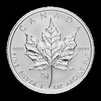 Moneda de Plata Privada Hoja de Arce Canadiense Año del Gallo 2005 de 1 oz