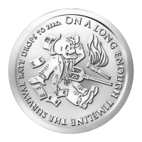 1 oz 2014 The End of the Line | Bankster Series Silver Round