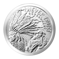 1 oz 2014 Never Trust Government Silver Round