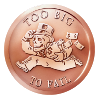 1 oz 2014 Too Big to Fail Copper Round