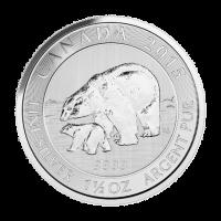 1.5 oz 2015 Canadian Polar Bear and Cub Silver Coin