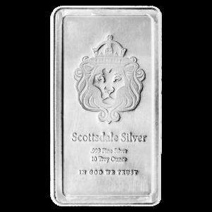 10 oz Scottsdale Mint Stacker Zilveren Baar