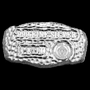 1 kg   kilo Scottsdale Mint Tombstone Nugget Silver Bar