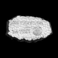 Barra de plata Tombstone Nugget de Scottsdale Mint de 5 oz