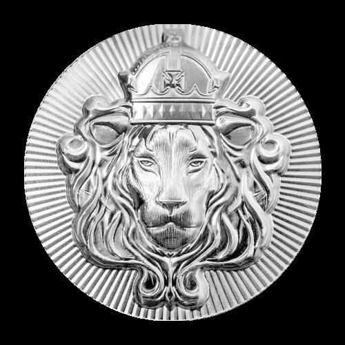 5 Troy oz - .999 Fine Silver - Scottsdale Mint - Stacker Round - Concave Scottsdale Mint Logo