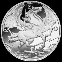 10 oz 2015 Pegasus Zilveren Proof Plak