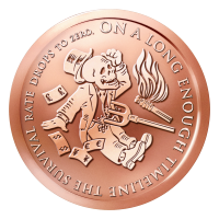 1 oz 2015 The End of the Line Copper Round