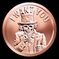 1 oz 2015 Slave Uncle Copper Round
